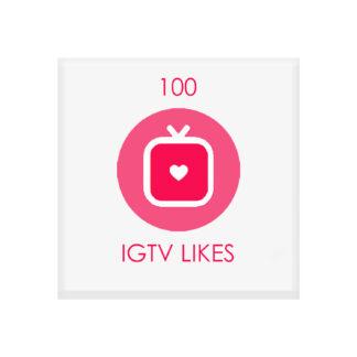 100 igtv likes