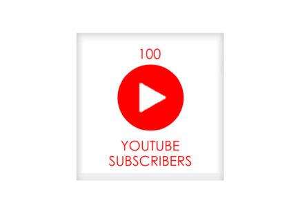 100 youtube subscribers