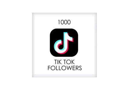 1000 tik tok FOLLowers