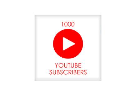1000 youtube subscribers