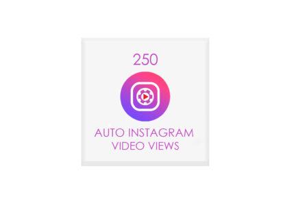 250 auto instagram video views
