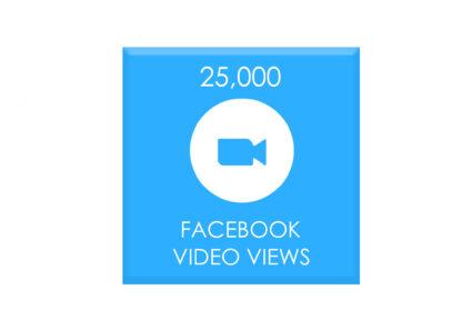 25,000 facebook video views