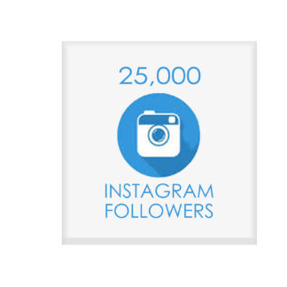 25000 instagram followers