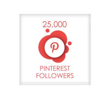 25,000 pinterest followers
