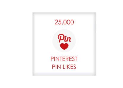 25,000 pinterest PIN LIKES
