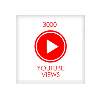 3000 youtube VIEWS
