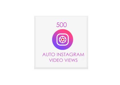 500 auto instagram video views