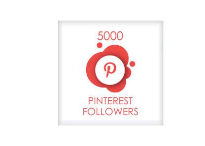 5000 pinterest followers