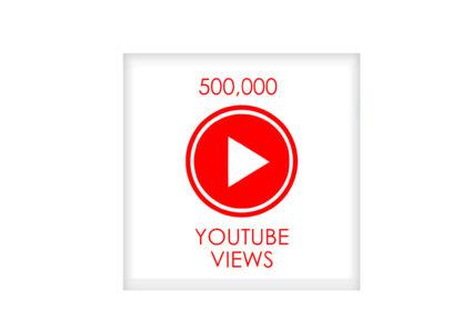 500,000 youtube VIEWS
